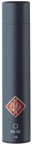 Neumann KM 183 mt Omnidirectional Condenser Microphone in Matte Black Finish with K30 Capsule and Accessories KM183-BLACK