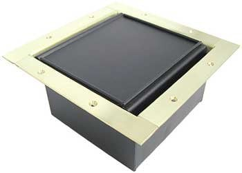 Ace Backstage Co. 222CLBR Full Stage Pocket, with Brushed Brass Solid Finish & Carpet Lid 222CLBR