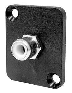 Ace Backstage C25107 RCA Isolated Solder Type Connector, Yellow Insulator, Panel Mount C25107