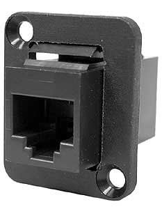 Ace Backstage Co. C25116 ADP/RJ45-CAT5 Feed Through (Coupler), Panel Mount C25116