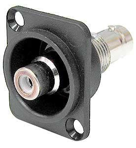Ace Backstage Co. C25132 RCA to BNC, Recessed, Panel Mount C25132