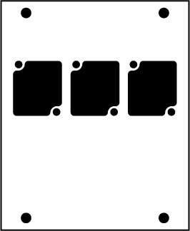 Ace Backstage Co. PNL-103 Aluminum Stage Pocket Panel, Black, with 3 Connectrix Mounts PNL-103