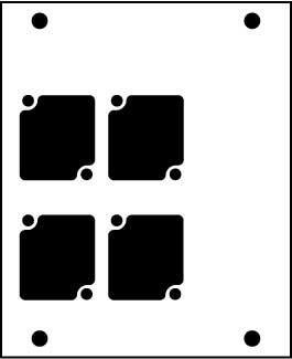 Ace Backstage Co. PNL-104 Aluminum Stage Pocket Panel, with 4 Connectrix Mounts, Black PNL-104