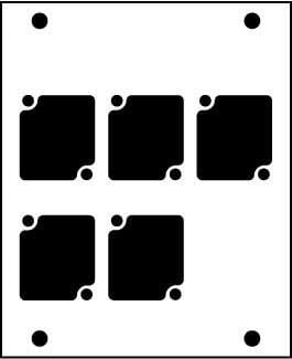 Ace Backstage Co. PNL-105 Aluminum Stage Pocket Panel, with 5 Connectrix Mounts, Black PNL-105
