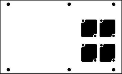 Ace Backstage Co. PNL-124 Aluminum Stage Pocket Panel, with 4 Connectrix Mounts, Black PNL-124