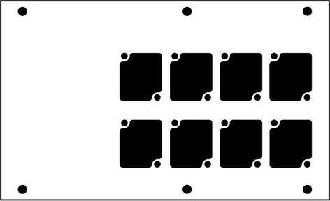 Ace Backstage Co. PNL-128 Aluminum Stage Pocket Panel, with 8 Connectrix Mounts, Black PNL-128