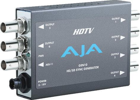 AJA Video Systems Inc GEN10 SD/HD/AES Sync Generator, Blackburst, Tri-Level Sync Generator with Power Supply GEN10