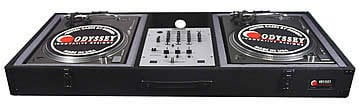 Odyssey CBM10E Carpeted DJ Turntable Case, Battle Style CBM10E