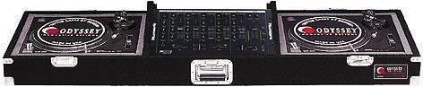 "Odyssey CDJ19P Carpeted DJ Turntable Coffin, Holds 2 Turntables & 19"" Mixer CDJ19P"