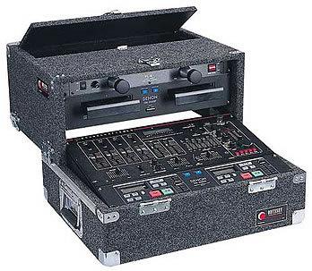 Odyssey CS4800 Carpeted Slide-Style CD DJ Case, 8 RU + 4 RU CS4800