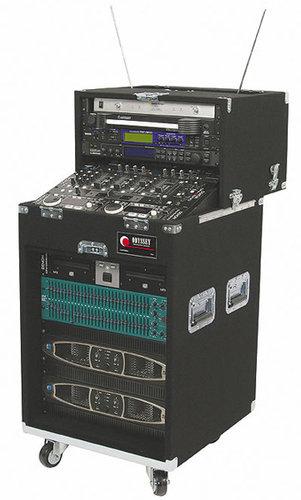 Odyssey CS4812W Carpeted Slide-Style CD DJ Case w/ Wheels, 4 RU + 8 RU + 12 RU CS4812W