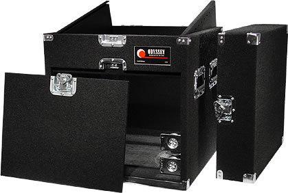 Odyssey CXP1108W Carpeted Combo Case w/ Wheels, 11 RU Top, 8 RU Front CXP1108W