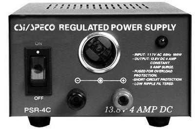 Speco Technologies PSR4C Power supply, 12v  PSR4C