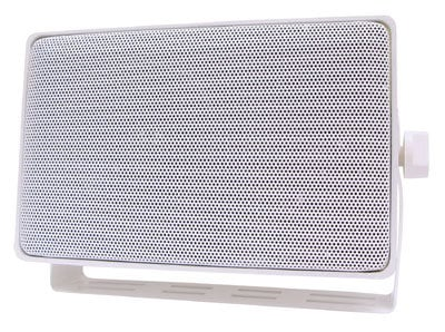 "Speco Technologies DMS3TSW 3-Way 4"" Mini Weather Resistant Outdoor Speaker in White DMS3TSW"
