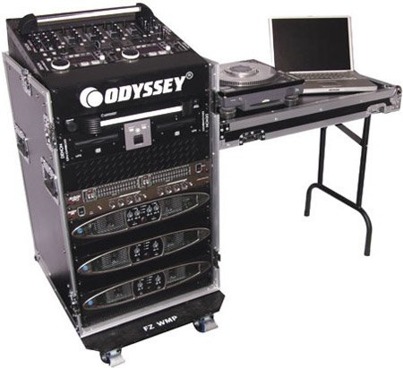 Odyssey FZ1116WDLX ATA Combo Rack Case with Wheels + Table, 11 RU + 16 RU FZ1116WDLX