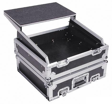 Odyssey FZGS10 Glide Style Utility Combo Rack Case w/ Laptop Platform, 10 RU FZGS10