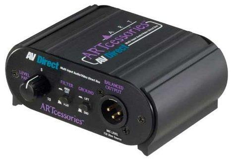 ART AVDIBOX AV Direct Multi-Input Audio/Video Direct Box AVDIBOX