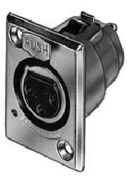 Switchcraft D3FD Connector 3 Pin XL F No Latch  D3FD