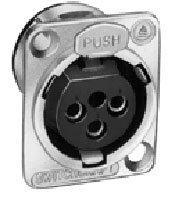 Switchcraft E3FSCB Panel Mt 3p XLRF Black Shell (Nickel shown) E3FSCB