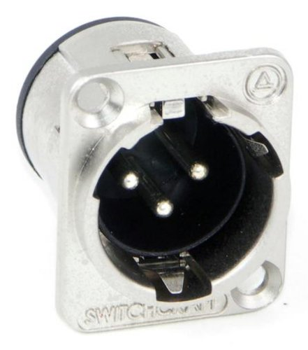 Switchcraft E3MB Q-G Male Receptacle in Black E3MB