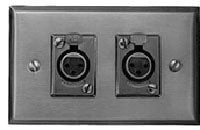 Switchcraft K3FS 2-D3F On Wall Plate  K3FS