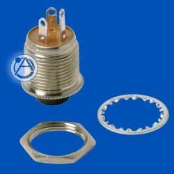 Atlas Sound HX11-P Single-Pole Duouble-Throw Momentary Push Button Switch, 1/4 Amp Contacts HX11-P