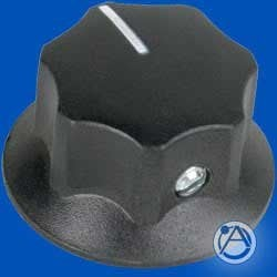 "Atlas Sound HX21B Skirted Knob, Black, 1 1/4"" Diameter HX21B"