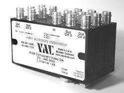 Video Accessory Corp 12-511-114  Comp Distribution Amp 1x4 RGB  12-511-114