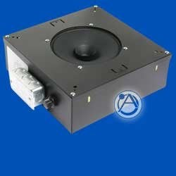 """Atlas Sound M812-S2T7-BX-RS 8"""" Speaker With 529 Cu. In. Channel Rail Enclosure M812-S2T7-BX-RS"""