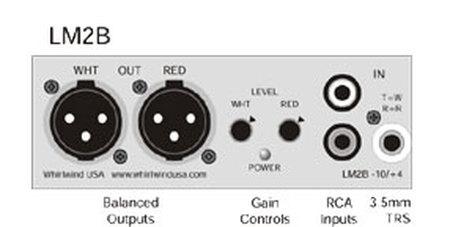 Whirlwind LM2B  Line Driver, 2ch MXLR-RCA  LM2B