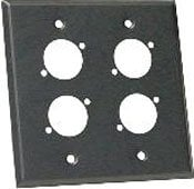 Whirlwind WP2B/4 Wall Plate, Dual Gang, with 4 D3F Holes WP2B/4