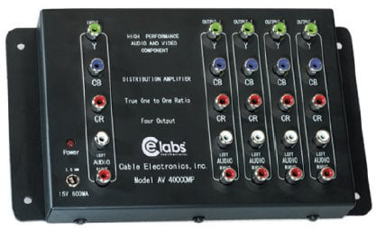 Cable Electronics CEL-AV400COMP 1x4 HD Component Audio/ Video Distribution Amplifier CEL-AV400COMP