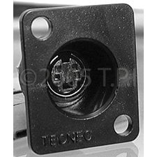 TecNec RE-4FCM Connector Recessed 4pin SVHS  RE-4FCM