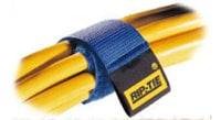 TecNec RT9-10RB Rip Tie Cable Wraps 1x9 10/pk Rainbow RT9-10RB