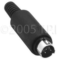 TecNec SVHS-4M SVHS 4 Pin Male Cable Connectr  SVHS-4M