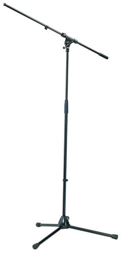 "K&M Stands 210/2 Microphone Stand with 33"" Boom and Tripod Base in Black 210/2-BLACK"