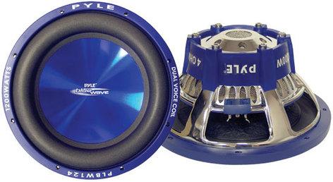 """Pyle Pro PLBW124 12"""" Blue Wave Subwoofer, 1200W PLBW-124"""