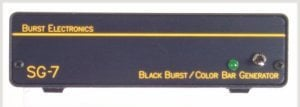 Burst Electronics SG7 SMPTE Color Bar/Black Burst Generator SG7