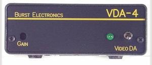Burst Electronics VDA4YC 1x4 S-Video Distribution Amplifier VDA4YC