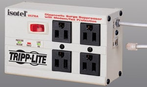 Tripp Lite ISOTEL4-ULTRA 4 Outlet Surge Suppressor  ISOTEL4-ULTRA