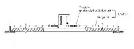 TOA HYTB1 Speaker Tile Bridge Rails HYTB1