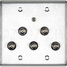 TecNec WPL2127 Wall Plate w/5 BNC,1 3.5mm TRS  WPL2127