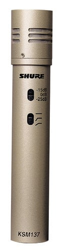 Shure KSM137/SL Cardioid Condenser Probe Instrument Mic KSM137/SL