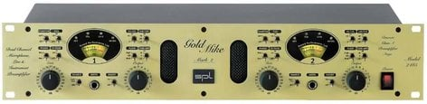 SPL Sound Performance Lab GoldMike Mk2 Dual Channel Tube Microphone and Instrument Preamplifier GOLD-MIKE-MARK-2