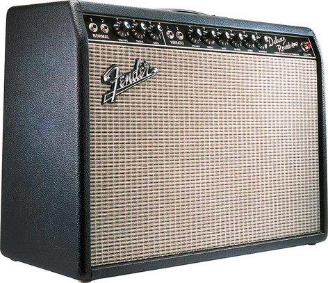 """Fender DELUXE REVERB '65 Reissue Vintage '65 Deluxe Reverb Reissue, Guitar Combo, 1 x 12"""" Jensen Speaker, 22W, 8 ohms, Black Textured Vinyl Covering DELUXE-REVERB-65-RI"""