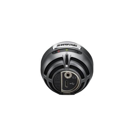 Silver Shure Motiv Vocal Condenser Microphone MV5-DIG
