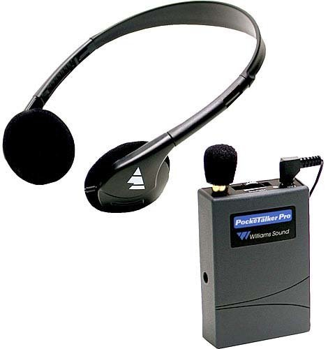 Williams Sound PKT-PRO1-3 Pocket Talker Pro with HED001 Phone PKT-PRO1-3