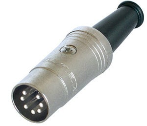 Neutrik NYS323 7-Pin MIDI Male Plug with Silver-Plated Contacts NYS323