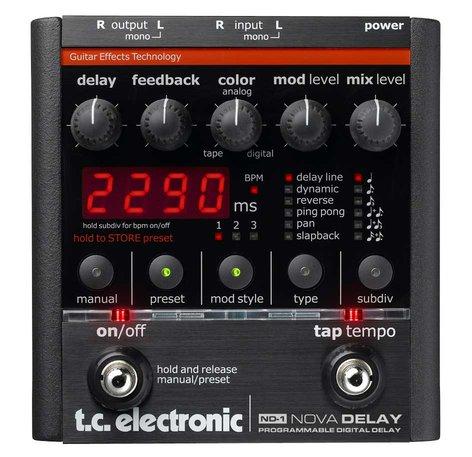 TC Electronic Nova Delay Delay Effects Pedal NOVA-DELAY