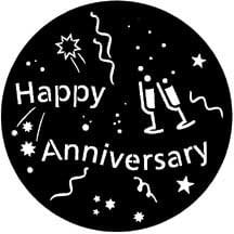 Rosco Laboratories 71061 Gobo Happy Anniversary 71061